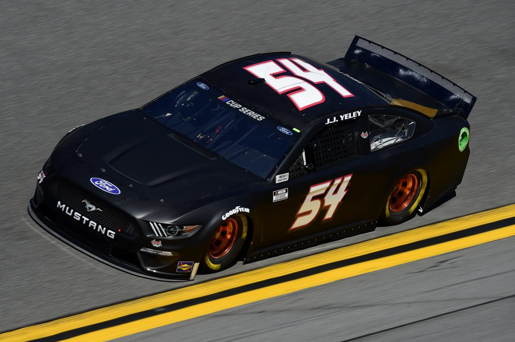 DAYTONA BEACH, FLORIDA - FEBRUARY 08: JJ Yeley, driver of the #54 Ford, practices for the NASCAR Cup Series 62nd Annual Daytona 500 at Daytona International Speedway on February 08, 2020 in Daytona Beach, Florida. (Photo by Jared C. Tilton/Getty Images) | Getty Images