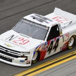 DAYTONA BEACH, FLORIDA - FEBRUARY 14: Natalie Decker, driver of the #44 N29 Technologies LLC Chevrolet, qualifies for the NASCAR Gander RV & Outdoors Truck Series NextEra Energy 250 at Daytona International Speedway on February 14, 2020 in Daytona Beach, Florida. (Photo by Jared C. Tilton/Getty Images) | Getty Images