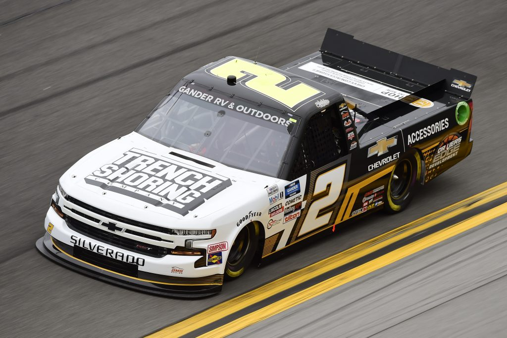 DAYTONA BEACH, FLORIDA - FEBRUARY 14: Sheldon Creed, driver of the #2 Chevy.com/Trench Shoring Chevrolet, qualifies for the NASCAR Gander RV & Outdoors Truck Series NextEra Energy 250 at Daytona International Speedway on February 14, 2020 in Daytona Beach, Florida. (Photo by Jared C. Tilton/Getty Images) | Getty Images