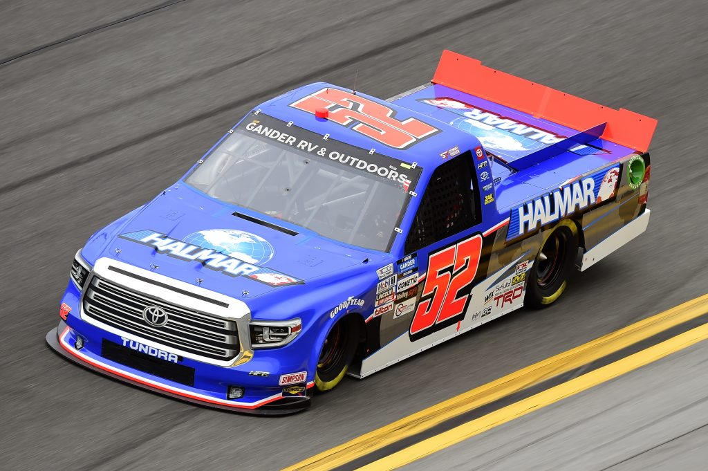 DAYTONA BEACH, FLORIDA - FEBRUARY 14: Stewart Friesen, driver of the #52 Halmar International Toyota, qualifies for the NASCAR Gander RV & Outdoors Truck Series NextEra Energy 250 at Daytona International Speedway on February 14, 2020 in Daytona Beach, Florida. (Photo by Jared C. Tilton/Getty Images) | Getty Images