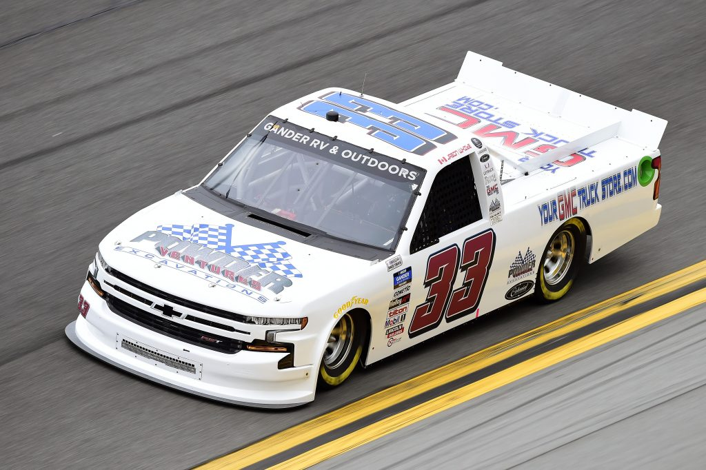 DAYTONA BEACH, FLORIDA - FEBRUARY 14: Jason White, driver of the #33 Your GMC Truck Store Chevrolet, qualifies for the NASCAR Gander RV & Outdoors Truck Series NextEra Energy 250 at Daytona International Speedway on February 14, 2020 in Daytona Beach, Florida. (Photo by Jared C. Tilton/Getty Images) | Getty Images