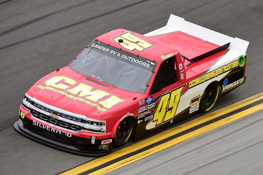DAYTONA BEACH, FLORIDA - FEBRUARY 14: Ray Ciccarelli, driver of the #49 CMI Motorsports Chevrolet, qualifies for the NASCAR Gander RV & Outdoors Truck Series NextEra Energy 250 at Daytona International Speedway on February 14, 2020 in Daytona Beach, Florida. (Photo by Jared C. Tilton/Getty Images) | Getty Images