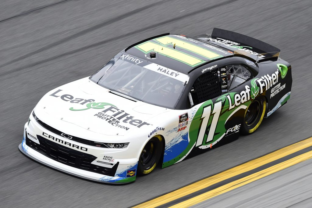DAYTONA BEACH, FLORIDA - FEBRUARY 14: Justin Haley, driver of the #11 LeafFilter Gutter Protection Chevrolet, practices for the NASCAR Xfinity Series NASCAR Racing Experience 300 at Daytona International Speedway on February 14, 2020 in Daytona Beach, Florida. (Photo by Jared C. Tilton/Getty Images) | Getty Images
