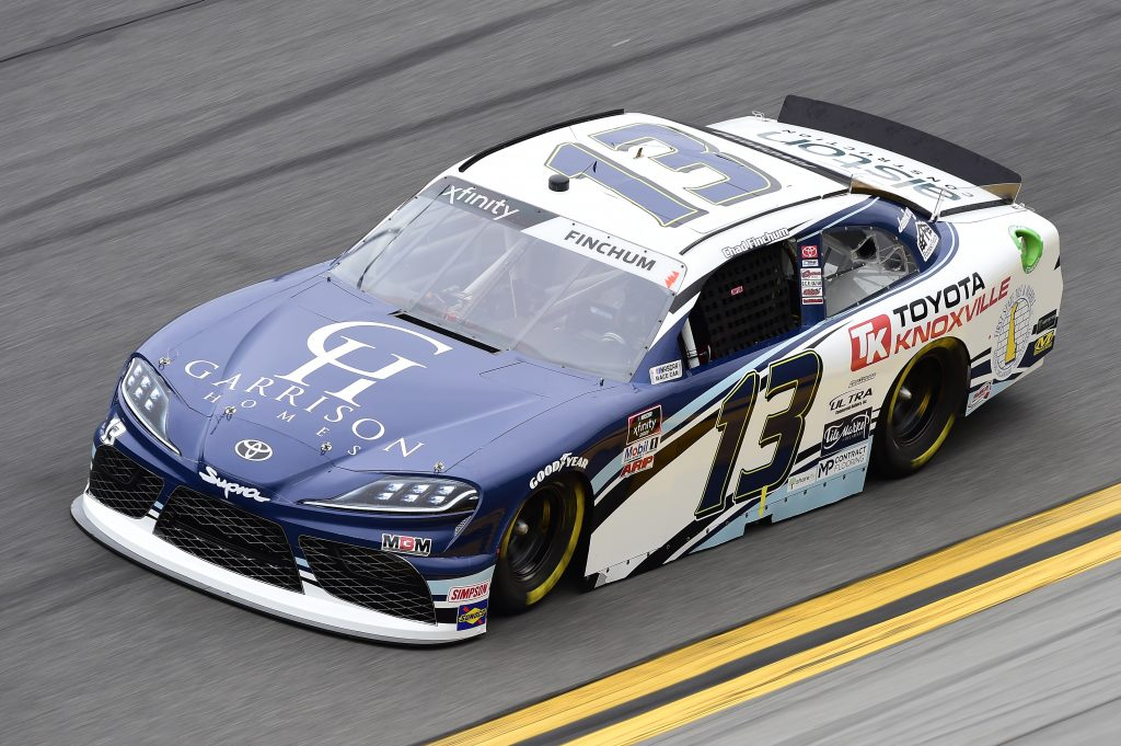 DAYTONA BEACH, FLORIDA - FEBRUARY 14: Chad Finchum, driver of the #13 Garrison Homes Toyota, practices for the NASCAR Xfinity Series NASCAR Racing Experience 300 at Daytona International Speedway on February 14, 2020 in Daytona Beach, Florida. (Photo by Jared C. Tilton/Getty Images) | Getty Images