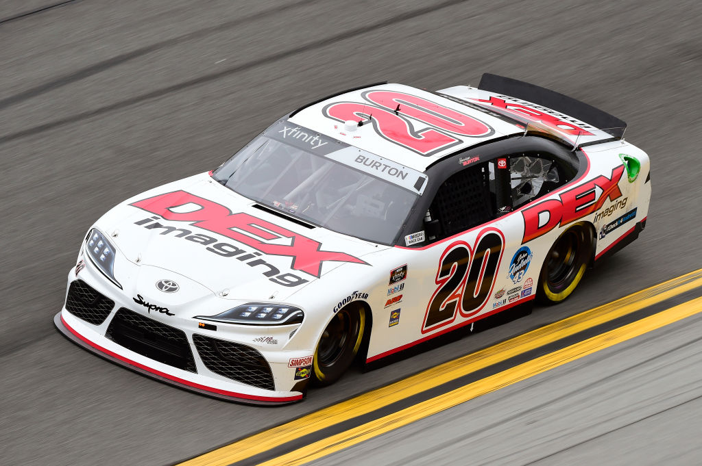 DAYTONA BEACH, FLORIDA - FEBRUARY 14: Harrison Burton, driver of the #20 Dex Imaging Toyota, practices for the NASCAR Xfinity Series NASCAR Racing Experience 300 at Daytona International Speedway on February 14, 2020 in Daytona Beach, Florida. (Photo by Jared C. Tilton/Getty Images) | Getty Images