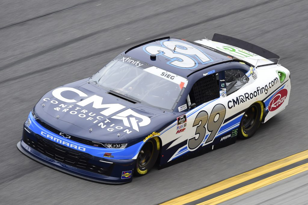 DAYTONA BEACH, FLORIDA - FEBRUARY 14: Ryan Sieg, driver of the #39 CMR Roofing Chevrolet, practices for the NASCAR Xfinity Series NASCAR Racing Experience 300 at Daytona International Speedway on February 14, 2020 in Daytona Beach, Florida. (Photo by Jared C. Tilton/Getty Images) | Getty Images