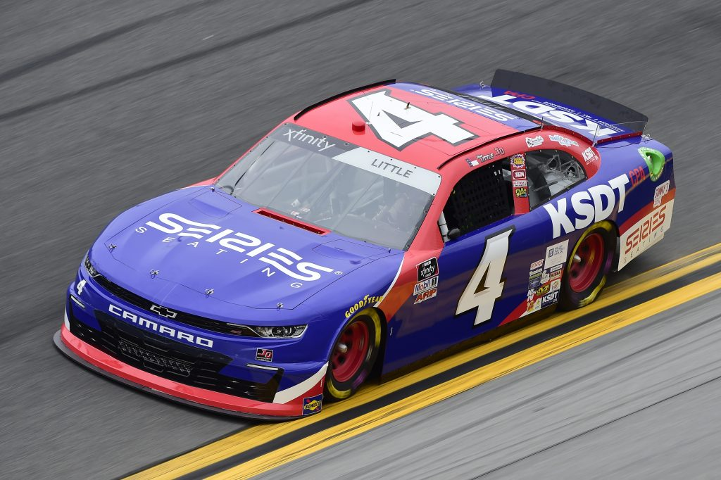 DAYTONA BEACH, FLORIDA - FEBRUARY 14: Jesse Little, driver of the #4 KSDT/Series Seating Chevrolet, practices for the NASCAR Xfinity Series NASCAR Racing Experience 300 at Daytona International Speedway on February 14, 2020 in Daytona Beach, Florida. (Photo by Jared C. Tilton/Getty Images) | Getty Images