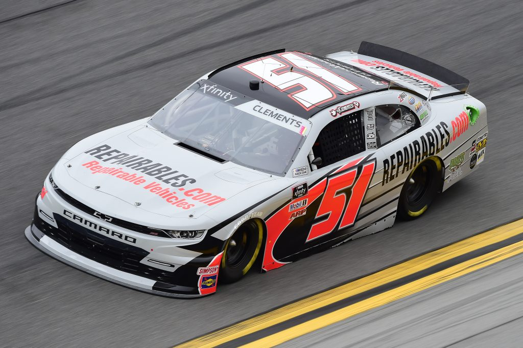 DAYTONA BEACH, FLORIDA - FEBRUARY 14: Jeremy Clements, driver of the #51 Repairables.com Chevrolet, practices for the NASCAR Xfinity Series NASCAR Racing Experience 300 at Daytona International Speedway on February 14, 2020 in Daytona Beach, Florida. (Photo by Jared C. Tilton/Getty Images) | Getty Images