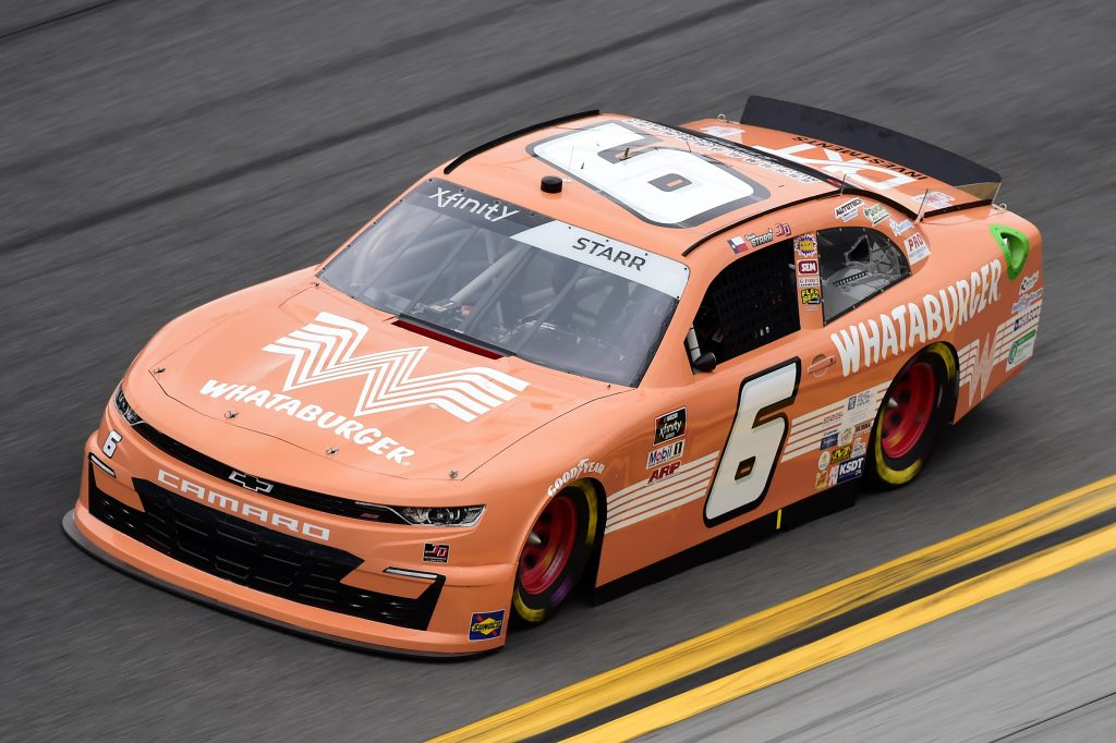 DAYTONA BEACH, FLORIDA - FEBRUARY 14: David Starr, driver of the #6 Whataburger Chevrolet, practices for the NASCAR Xfinity Series NASCAR Racing Experience 300 at Daytona International Speedway on February 14, 2020 in Daytona Beach, Florida. (Photo by Jared C. Tilton/Getty Images) | Getty Images