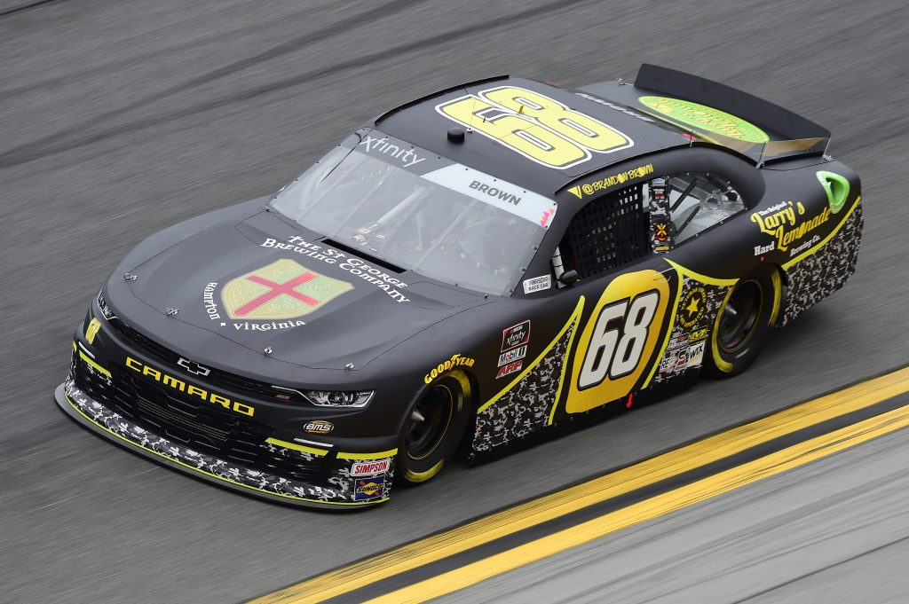 DAYTONA BEACH, FLORIDA - FEBRUARY 14: Brandon Brown, driver of the #68 Larry's Lemonade Chevrolet, practices for the NASCAR Xfinity Series NASCAR Racing Experience 300 at Daytona International Speedway on February 14, 2020 in Daytona Beach, Florida. (Photo by Jared C. Tilton/Getty Images) | Getty Images