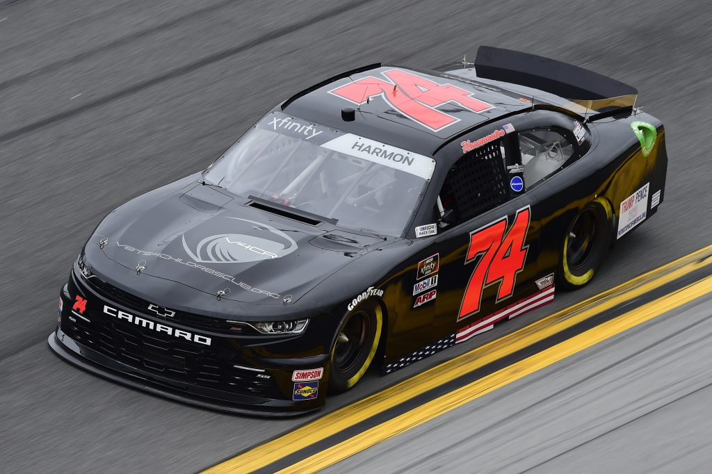 DAYTONA BEACH, FLORIDA - FEBRUARY 14: Mike Harmon, driver of the #74 Chevrolet, practices for the NASCAR Xfinity Series NASCAR Racing Experience 300 at Daytona International Speedway on February 14, 2020 in Daytona Beach, Florida. (Photo by Jared C. Tilton/Getty Images) | Getty Images