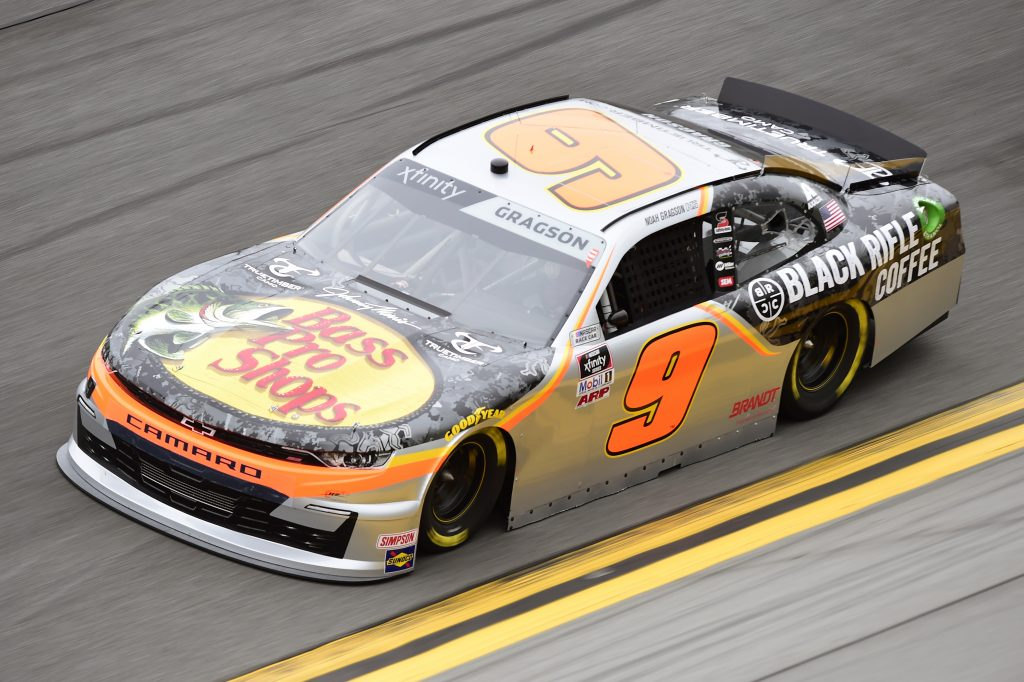 DAYTONA BEACH, FLORIDA - FEBRUARY 14: Noah Gragson, driver of the #9 Bass Pro Shops/BRCC Chevrolet, practices for the NASCAR Xfinity Series NASCAR Racing Experience 300 at Daytona International Speedway on February 14, 2020 in Daytona Beach, Florida. (Photo by Jared C. Tilton/Getty Images) | Getty Images