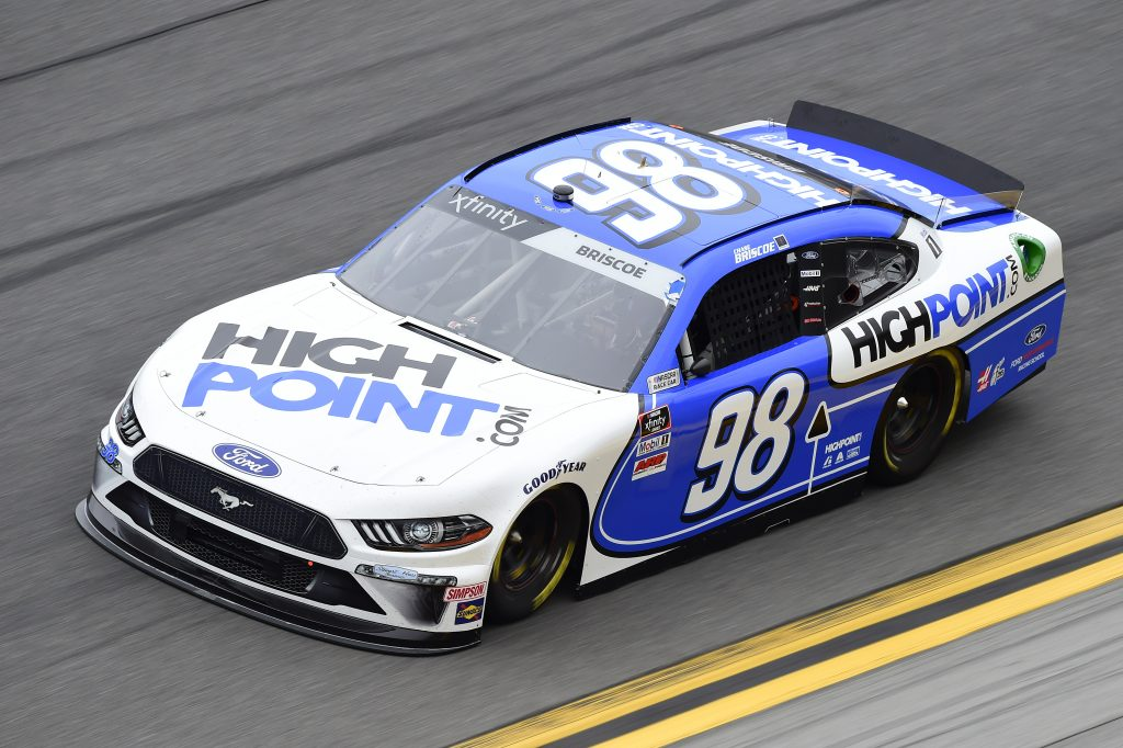 DAYTONA BEACH, FLORIDA - FEBRUARY 14: Chase Briscoe, driver of the #98 Highpoint.com Ford, practices for the NASCAR Xfinity Series NASCAR Racing Experience 300 at Daytona International Speedway on February 14, 2020 in Daytona Beach, Florida. (Photo by Jared C. Tilton/Getty Images) | Getty Images