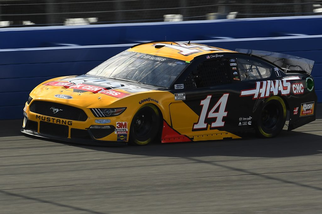 FONTANA, CALIFORNIA - FEBRUARY 28: Clint Bowyer, driver of the #14 RushHAAS CNC, practices for the NASCAR Cup Series Auto Club 400 at Auto Club Speedway on February 28, 2020 in Fontana, California. (Photo by Stacy Revere/Getty Images) | Getty Images