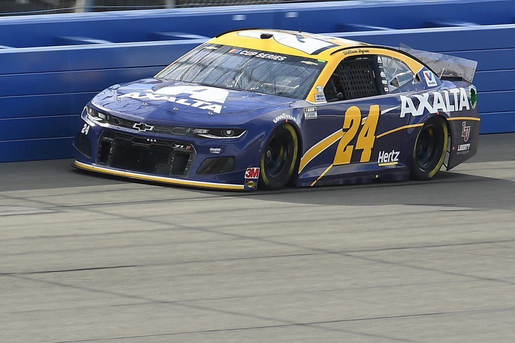 FONTANA, CALIFORNIA - FEBRUARY 28: William Byron, driver of the #24 Axalta 24 Tribute Chevrolet, practices for the NASCAR Cup Series Auto Club 400 at Auto Club Speedway on February 28, 2020 in Fontana, California. (Photo by Stacy Revere/Getty Images) | Getty Images