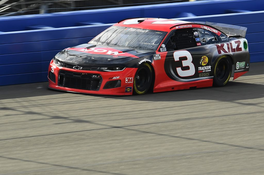 FONTANA, CALIFORNIA - FEBRUARY 28: Austin Dillon, driver of the #3 Dow Coatings Chevrolet, practices for the NASCAR Cup Series Auto Club 400 at Auto Club Speedway on February 28, 2020 in Fontana, California. (Photo by Stacy Revere/Getty Images) | Getty Images