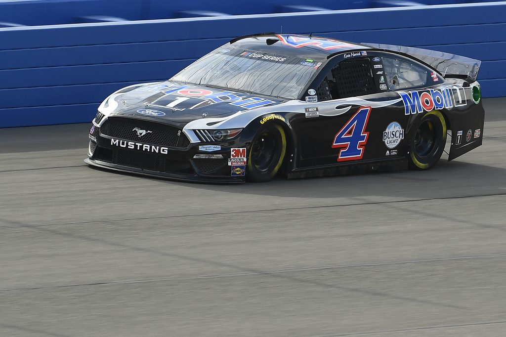 FONTANA, CALIFORNIA - FEBRUARY 28: Kevin Harvick, driver of the #4 Mobil 1 Ford, practices for the NASCAR Cup Series Auto Club 400 at Auto Club Speedway on February 28, 2020 in Fontana, California. (Photo by Stacy Revere/Getty Images) | Getty Images