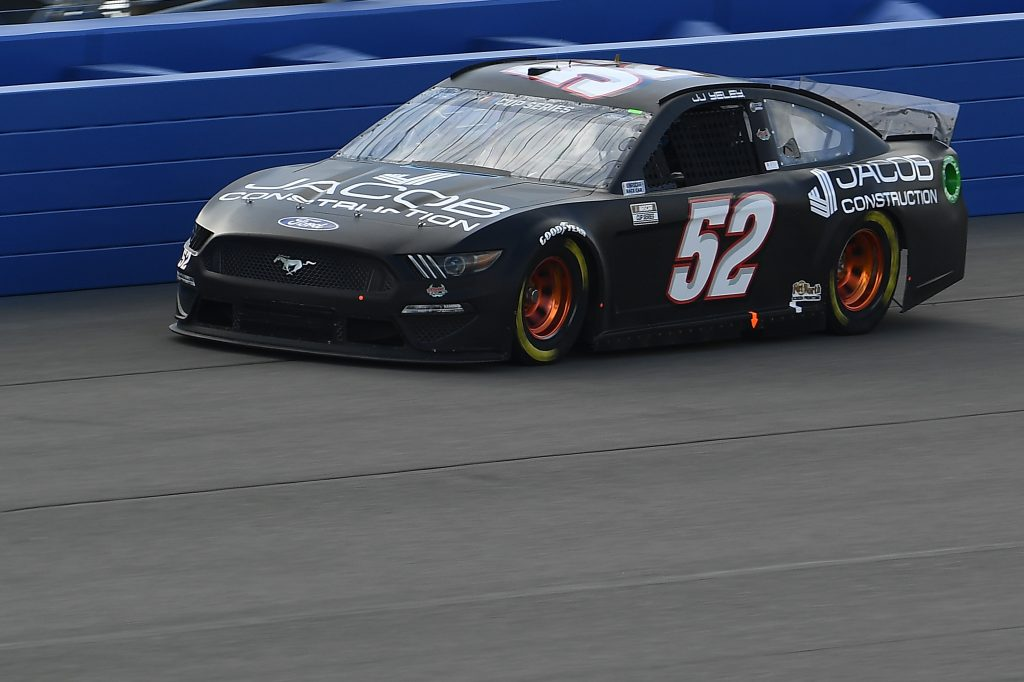 FONTANA, CALIFORNIA - FEBRUARY 28: JJ Yeley, driver of the #52 Ford, practices for the NASCAR Cup Series Auto Club 400 at Auto Club Speedway on February 28, 2020 in Fontana, California. (Photo by Stacy Revere/Getty Images) | Getty Images