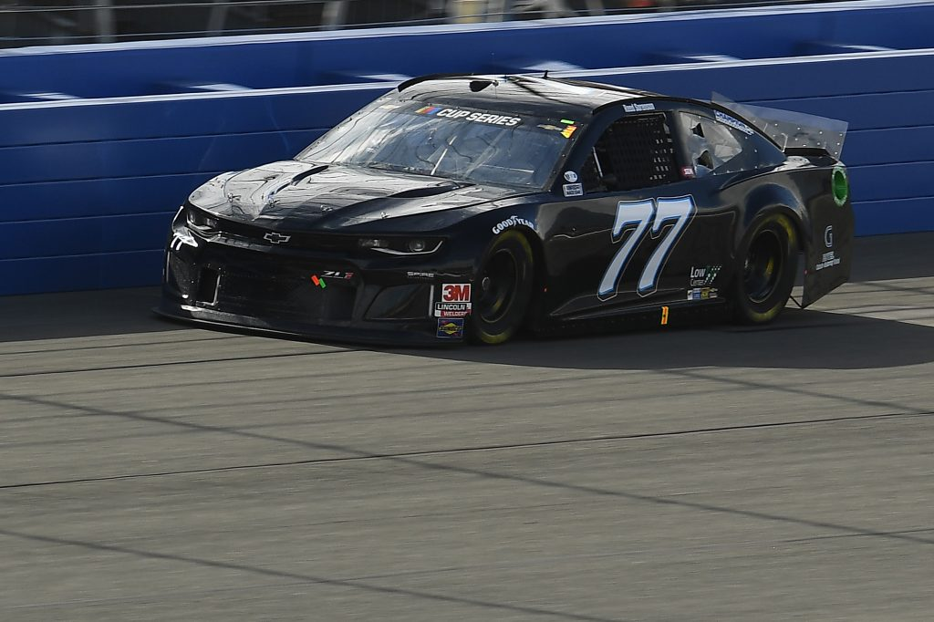 FONTANA, CALIFORNIA - FEBRUARY 28: Reed Sorenson, driver of the #77 Chevrolet, practices for the NASCAR Cup Series Auto Club 400 at Auto Club Speedway on February 28, 2020 in Fontana, California. (Photo by Stacy Revere/Getty Images) | Getty Images