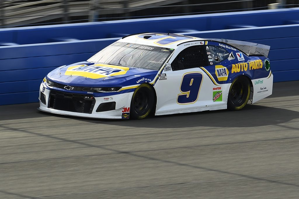 FONTANA, CALIFORNIA - FEBRUARY 28: Chase Elliott, driver of the #9 NAPA Auto Parts Chevrolet, practices for the NASCAR Cup Series Auto Club 400 at Auto Club Speedway on February 28, 2020 in Fontana, California. (Photo by Stacy Revere/Getty Images) | Getty Images