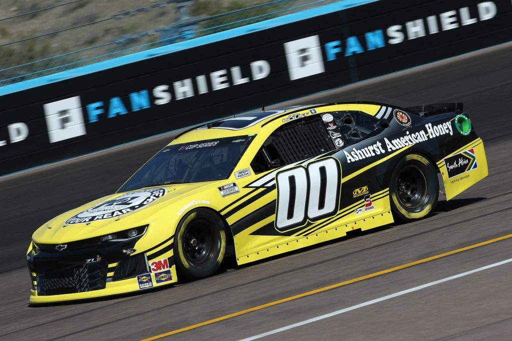 AVONDALE, ARIZONA - MARCH 06: Quin Houff, driver of the #00 Mount-N-Lock/Ashurst Honey Chevrolet, practices during practice for the NASCAR Cup Series FanShield 500 at Phoenix Raceway on March 06, 2020 in Avondale, Arizona. (Photo by Chris Graythen/Getty Images) | Getty Images