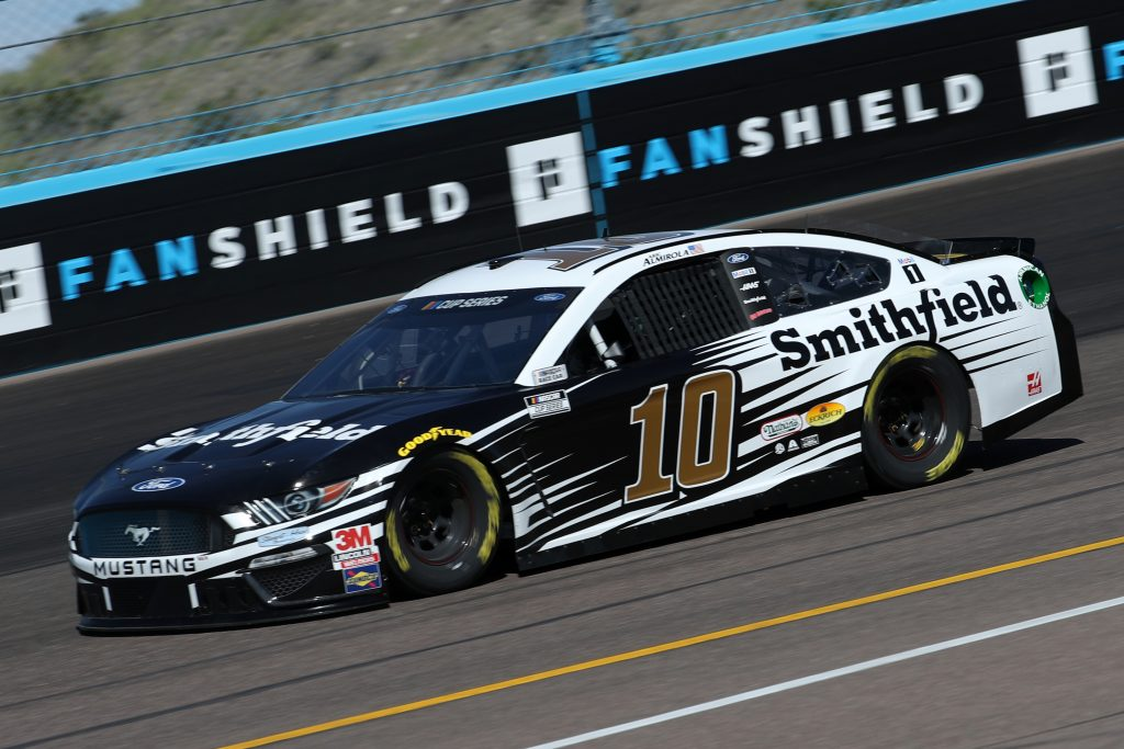 AVONDALE, ARIZONA - MARCH 06: Aric Almirola, driver of the #10 Smithfield Ford, practices during practice for the NASCAR Cup Series FanShield 500 at Phoenix Raceway on March 06, 2020 in Avondale, Arizona. (Photo by Chris Graythen/Getty Images) | Getty Images