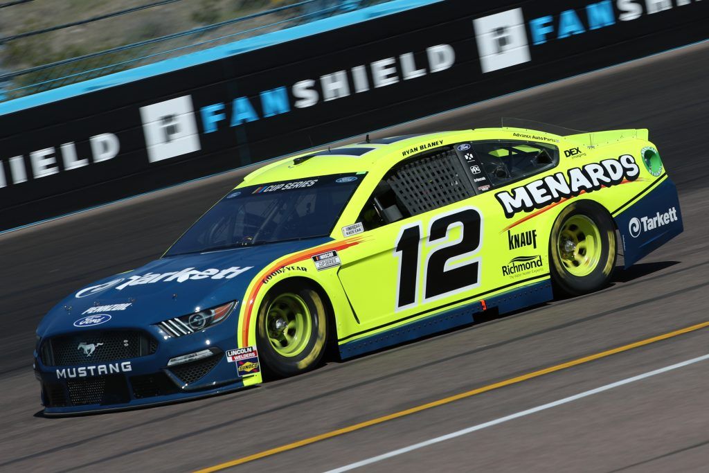 AVONDALE, ARIZONA - MARCH 06: Ryan Blaney, driver of the #12 Menards/Tarkett Ford, practices during practice for the NASCAR Cup Series FanShield 500 at Phoenix Raceway on March 06, 2020 in Avondale, Arizona. (Photo by Chris Graythen/Getty Images) | Getty Images
