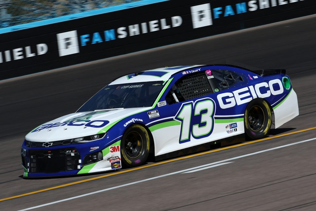 AVONDALE, ARIZONA - MARCH 06: Ty Dillon, driver of the #13 GEICO Chevrolet, practices during practice for the NASCAR Cup Series FanShield 500 at Phoenix Raceway on March 06, 2020 in Avondale, Arizona. (Photo by Chris Graythen/Getty Images) | Getty Images