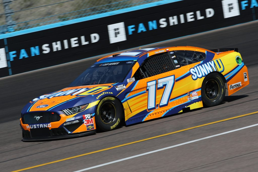 AVONDALE, ARIZONA - MARCH 06: Chris Buescher, driver of the #17 Fastenal Ford, practices during practice for the NASCAR Cup Series FanShield 500 at Phoenix Raceway on March 06, 2020 in Avondale, Arizona. (Photo by Chris Graythen/Getty Images) | Getty Images