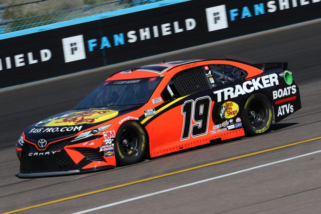 AVONDALE, ARIZONA - MARCH 06: Martin Truex Jr., driver of the #19 Bass Pro Shops Toyota, practices during practice for the NASCAR Cup Series FanShield 500 at Phoenix Raceway on March 06, 2020 in Avondale, Arizona. (Photo by Chris Graythen/Getty Images)   Getty Images
