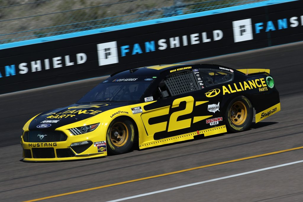 AVONDALE, ARIZONA - MARCH 06: Brad Keselowski, driver of the #2 Alliance Parts Ford, practices during practice for the NASCAR Cup Series FanShield 500 at Phoenix Raceway on March 06, 2020 in Avondale, Arizona. (Photo by Chris Graythen/Getty Images) | Getty Images