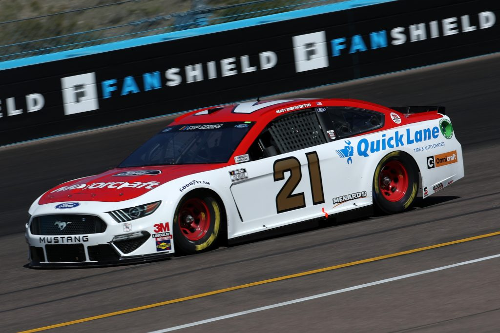 AVONDALE, ARIZONA - MARCH 06: Matt DiBenedetto, driver of the #21 Motorcraft/Quick Lane Ford, practices during practice for the NASCAR Cup Series FanShield 500 at Phoenix Raceway on March 06, 2020 in Avondale, Arizona. (Photo by Chris Graythen/Getty Images) | Getty Images