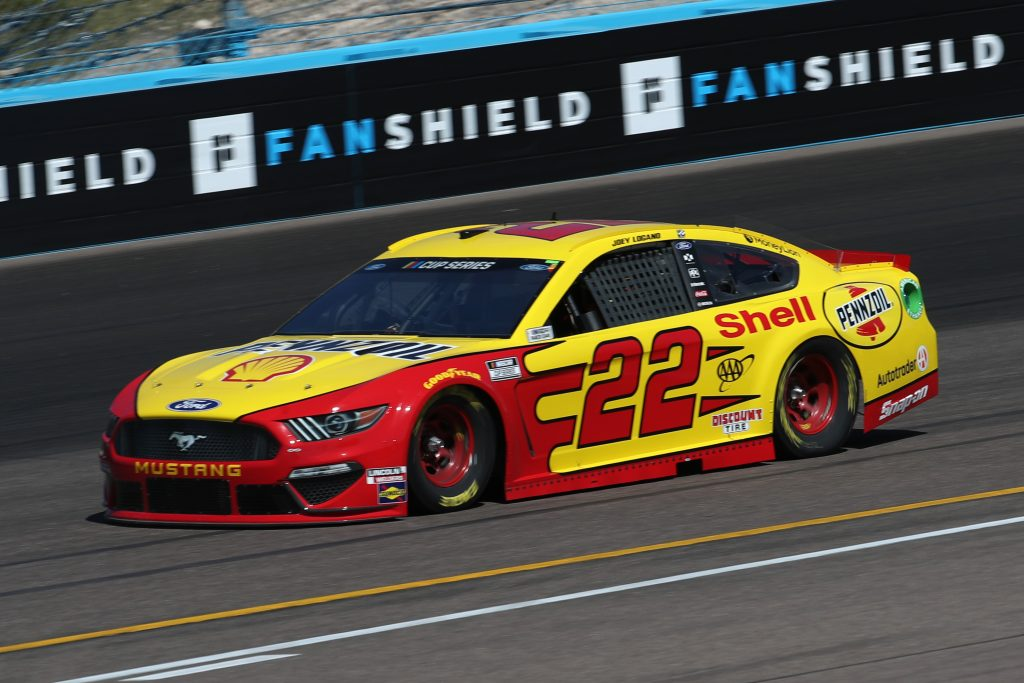 AVONDALE, ARIZONA - MARCH 06: Joey Logano, driver of the #22 Shell Pennzoil Ford, practices during practice for the NASCAR Cup Series FanShield 500 at Phoenix Raceway on March 06, 2020 in Avondale, Arizona. (Photo by Chris Graythen/Getty Images) | Getty Images