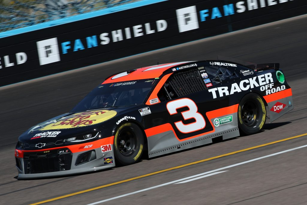 AVONDALE, ARIZONA - MARCH 06: Austin Dillon, driver of the #3 Bass Pro Shops/Tracker Off Road Chevrolet, practices during practice for the NASCAR Cup Series FanShield 500 at Phoenix Raceway on March 06, 2020 in Avondale, Arizona. (Photo by Chris Graythen/Getty Images) | Getty Images