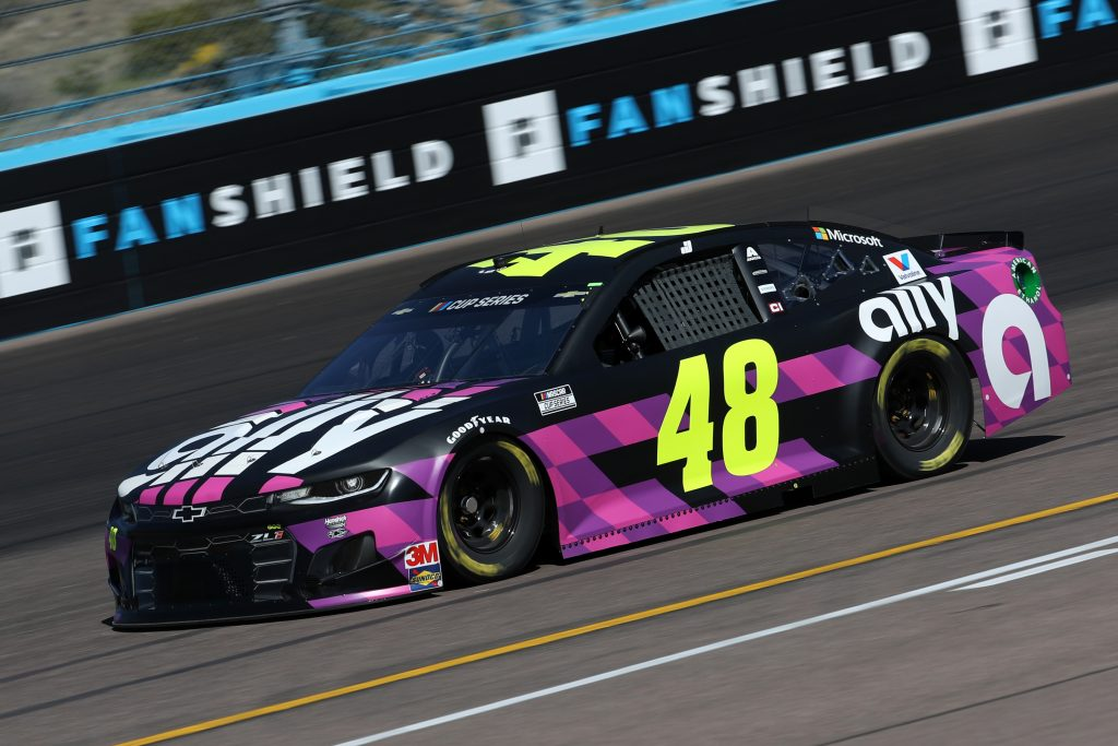 AVONDALE, ARIZONA - MARCH 06: Jimmie Johnson, driver of the #48 Ally Chevrolet, practices during practice for the NASCAR Cup Series FanShield 500 at Phoenix Raceway on March 06, 2020 in Avondale, Arizona. (Photo by Chris Graythen/Getty Images) | Getty Images