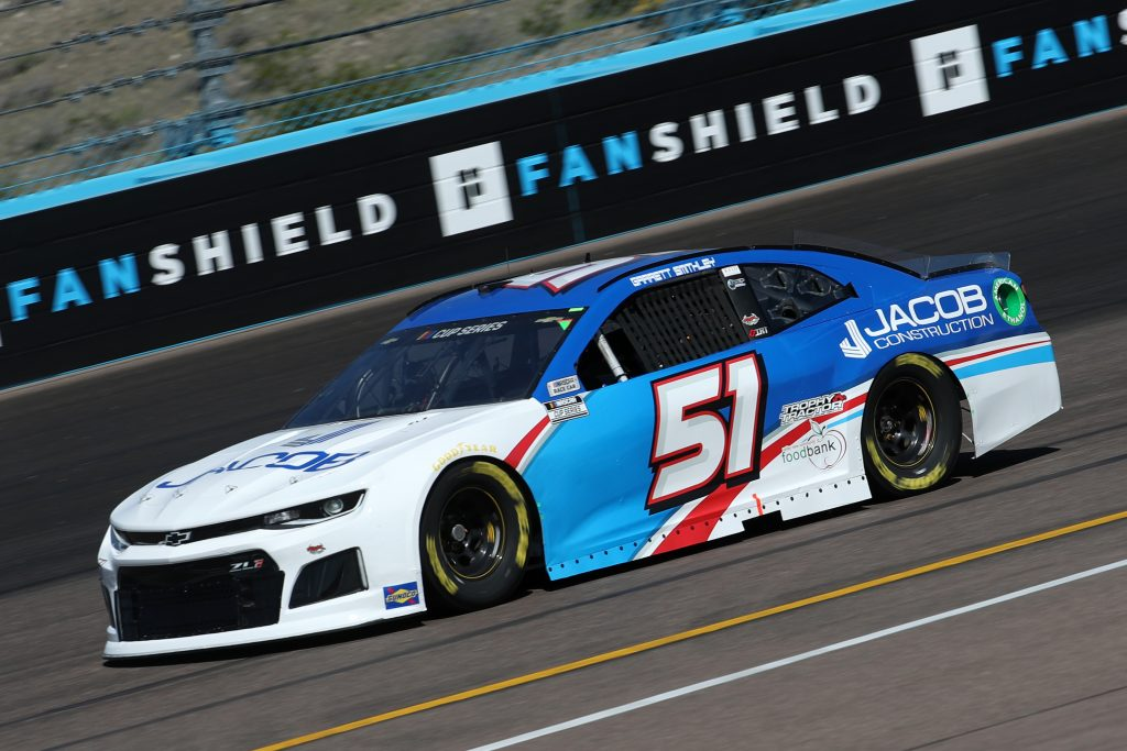 AVONDALE, ARIZONA - MARCH 06: Joey Gase, driver of the #51 EFX Corp. Chevrolet, practices during practice for the NASCAR Cup Series FanShield 500 at Phoenix Raceway on March 06, 2020 in Avondale, Arizona. (Photo by Chris Graythen/Getty Images) | Getty Images