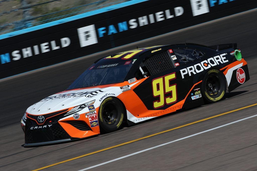 AVONDALE, ARIZONA - MARCH 06: Christopher Bell, driver of the #95 Procore Toyota, practices during practice for the NASCAR Cup Series FanShield 500 at Phoenix Raceway on March 06, 2020 in Avondale, Arizona. (Photo by Chris Graythen/Getty Images)   Getty Images