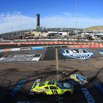 AVONDALE, ARIZONA - MARCH 07: Brandon Jones, driver of the #19 Menards/Turtle Wax Toyota, celebrates after winning during the NASCAR Xfinity Series LS Tractor 200 at Phoenix Raceway on March 07, 2020 in Avondale, Arizona. (Photo by Chris Graythen/Getty Images) | Getty Images