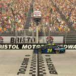 BRISTOL, TENNESSEE - APRIL 05: (EDITORIAL USE ONLY) (Editors note: This image was computer generated in-game) William Byron, driver of the #24 Axalta Chevrolet, wins at Bristol Motor Speedway on April 05, 2020 in Bristol, Tennessee. (Photo by Chris Graythen/Getty Images) | Getty Images