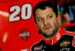 LAS VEGAS – JANUARY 29: Tony Stewart, driver of the #20 Home Depot Chevrolet, in the garage during NASCAR testing at Las Vegas Motor Speedway January 29, 2007 in Las Vegas, Nevada. (Photo by Rusty Jarrett/Getty Images for NASCAR) | Getty Images