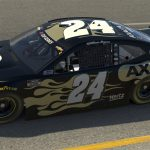 RICHMOND, VIRGINIA - APRIL 19: (EDITORIAL USE ONLY) (Editors note: This image was computer generated in-game) William Byron, driver of the #24 Axalta Chevrolet, races during the eNASCAR iRacing Pro Invitational Series Toyota Owners 150at Richmond Raceway on April 19, 2020 in Richmond, Virginia. (Photo by Chris Graythen/Getty Images) | Getty Images