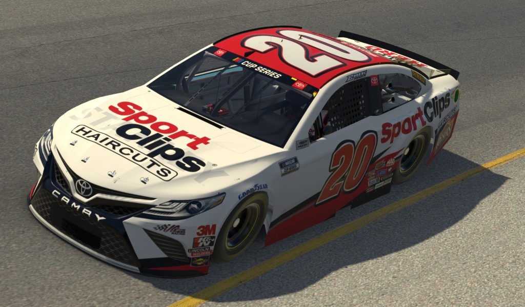 RICHMOND, VIRGINIA - APRIL 19: (EDITORIAL USE ONLY) (Editors note: This image was computer generated in-game) Erik Jones, driver of the #20 SportClips Toyota, races during the eNASCAR iRacing Pro Invitational Series Toyota Owners 150at Richmond Raceway on April 19, 2020 in Richmond, Virginia. (Photo by Chris Graythen/Getty Images) | Getty Images