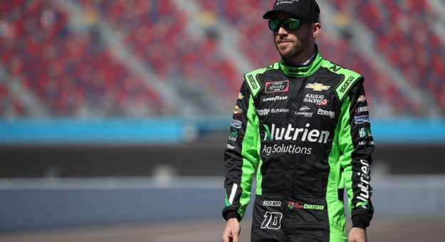 AVONDALE, ARIZONA - MARCH 07: Ross Chastain, driver of the #10 Nutrien Ag Solutions Chevrolet, stands on the grid during qualifying for the NASCAR Xfinity Series LS Tractor 200 at Phoenix Raceway on March 07, 2020 in Avondale, Arizona. (Photo by Christian Petersen/Getty Images) | Getty Images