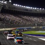 CHARLOTTE, NORTH CAROLINA - MAY 18: Kyle Busch, driver of the #18 M&M's Hazelnut Toyota, leads a pack of cars during the Monster Energy NASCAR Cup Series All-Star Race at Charlotte Motor Speedway on May 18, 2019 in Charlotte, North Carolina. (Photo by Jared C. Tilton/Getty Images) | Getty Images