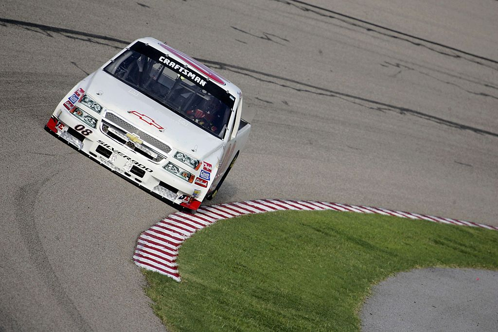 MEMPHIS, TN - JULY 14: Mike Greenwell, driver of the #08 Greenlight Racing Chevrolet drives during practice for the O\