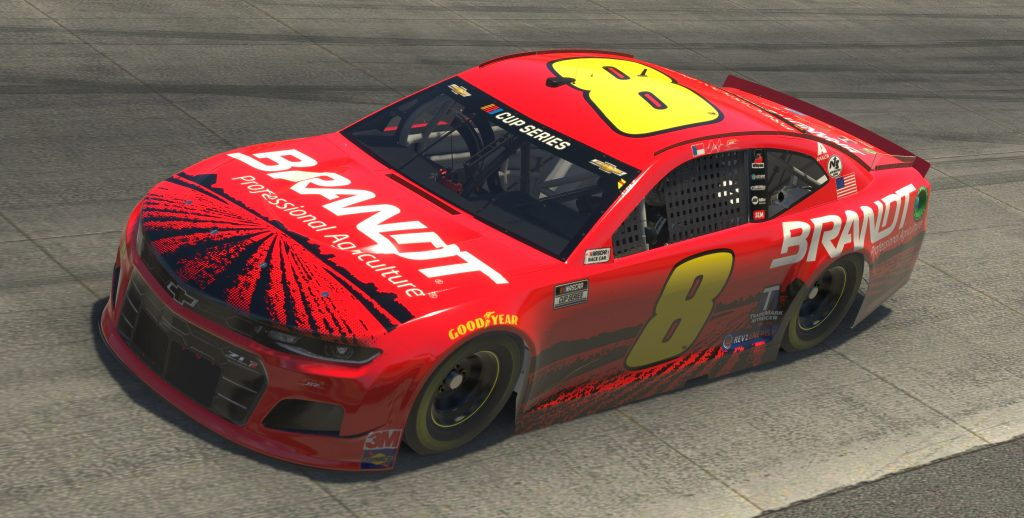 DOVER, DELAWARE - MAY 03: (EDITORIAL USE ONLY) (Editors note: This image was computer generated in-game) Dale Earnhardt Jr., driver of the #8 Brandt Chevrolet, races during the eNASCAR iRacing Pro Invitational Series Finish Line 150 at virtual Dover International Speedway on May 03, 2020 in Dover, Delaware. (Photo by Chris Graythen/Getty Images) | Getty Images