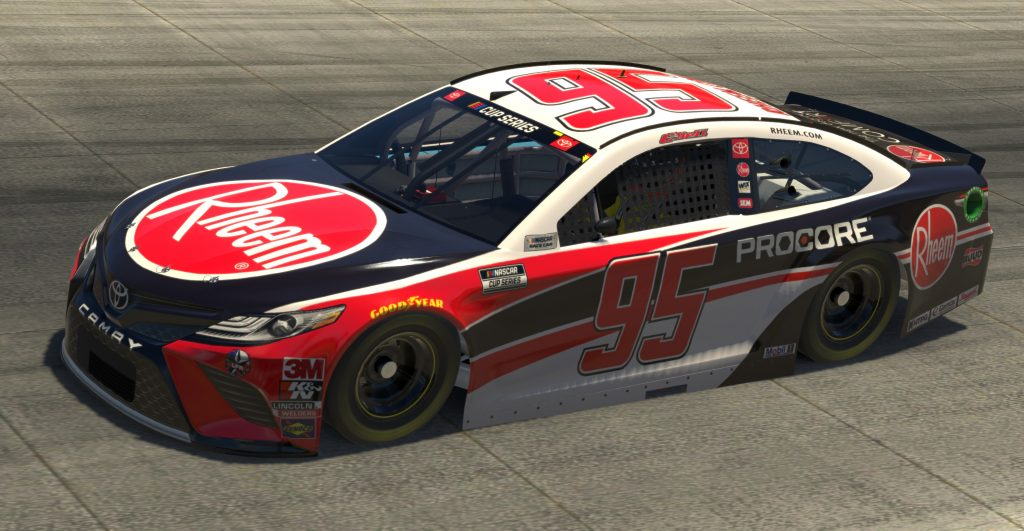 DOVER, DELAWARE - MAY 03: (EDITORIAL USE ONLY) (Editors note: This image was computer generated in-game) Christopher Bell, driver of the #95 Rheem Chevrolet, races during the eNASCAR iRacing Pro Invitational Series Finish Line 150 at virtual Dover International Speedway on May 03, 2020 in Dover, Delaware. (Photo by Chris Graythen/Getty Images) | Getty Images