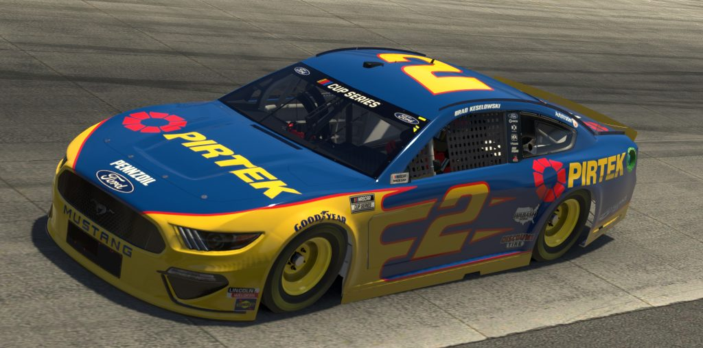 DOVER, DELAWARE - MAY 03: (EDITORIAL USE ONLY) (Editors note: This image was computer generated in-game) Brad Keselowski, driver of the #2 Pirtek Ford, races during the eNASCAR iRacing Pro Invitational Series Finish Line 150 at virtual Dover International Speedway on May 03, 2020 in Dover, Delaware. (Photo by Chris Graythen/Getty Images) | Getty Images
