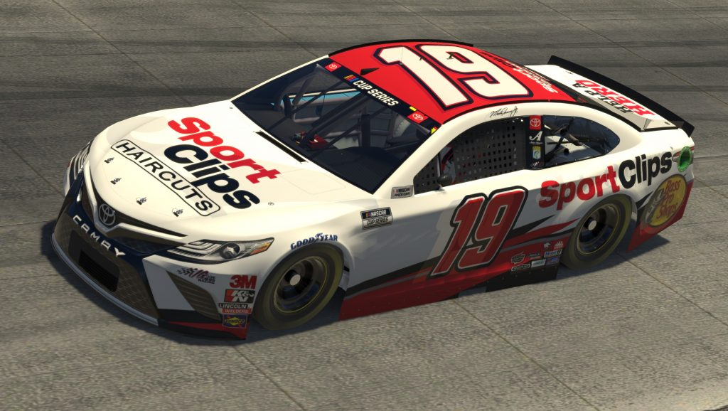 DOVER, DELAWARE - MAY 03: (EDITORIAL USE ONLY) (Editors note: This image was computer generated in-game) Bobby Labonte, driver of the #19 SportClips Toyota, races during the eNASCAR iRacing Pro Invitational Series Finish Line 150 at virtual Dover International Speedway on May 03, 2020 in Dover, Delaware. (Photo by Chris Graythen/Getty Images) | Getty Images