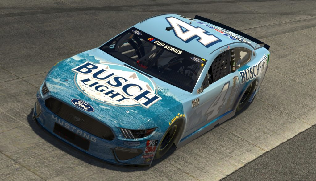 DOVER, DELAWARE - MAY 03: (EDITORIAL USE ONLY) (Editors note: This image was computer generated in-game) Kevin Harvick, driver of the #4 Busch Light Ford, during the eNASCAR iRacing Pro Invitational Series Finish Line 150 at virtual Dover International Speedway on May 03, 2020 in Dover, Delaware. (Photo by Chris Graythen/Getty Images) | Getty Images